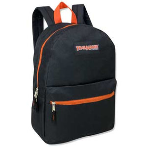 Backpack Trailmaker 17 Inch Black Orange Zippers