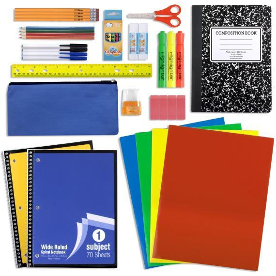 Wholesale 24 Piece School Supply Kit SS4671