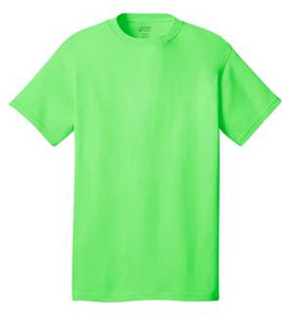 T-Shirt: Adult S: Plain: Neon Green
