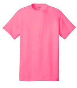 T-Shirt: Adult M: Plain: Neon Pink