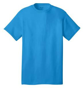 T-Shirt: Adult M: Plain: Neon Blue
