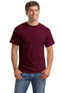 T-Shirt: Adult S: Plain: Burgundy