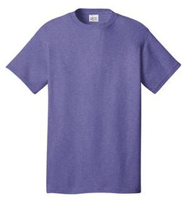 T-Shirt: Adult L: Plain: Heather Purple