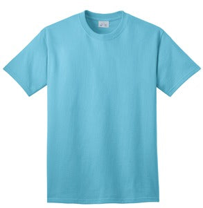 T-Shirt: Adult XL: Plain: Aquatic Blue