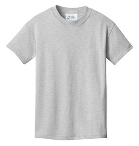 T-Shirt: Youth L: Plain: Ash Grey