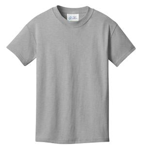 T-Shirt: Youth XS: Plain: Heather Grey