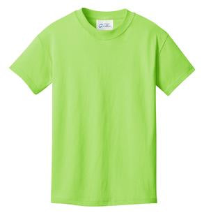 T-Shirt: Youth L: Plain: Lime Green