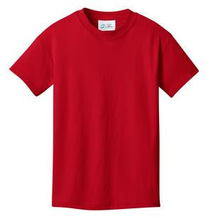 T-Shirt: Youth L: Plain: Red