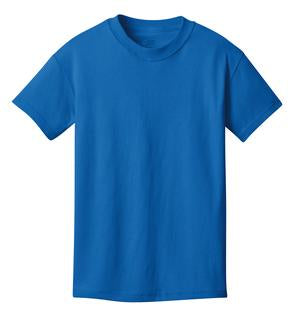 T-Shirt: Youth S: Plain: Royal Blue