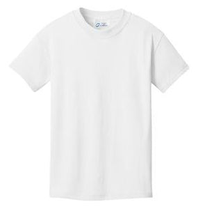 T-Shirt: Youth XS: Plain: White