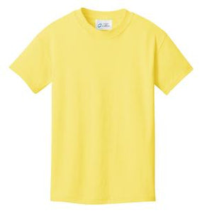 T-Shirt: Youth XS: Plain:Yellow