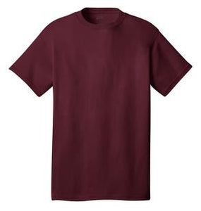 T-Shirt: Youth M: Plain: Maroon