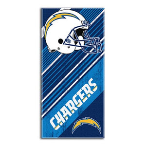 Beach Towel NFL San Diego Chargers Diagonal