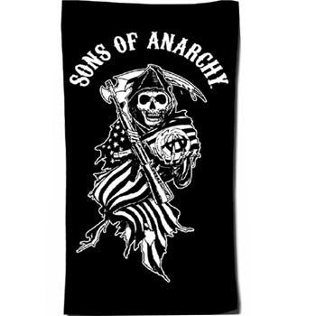 Beach Towel- Sons Of Anarchy - Reaper Flag 1313