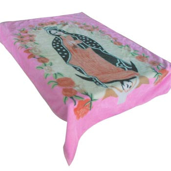 Blanket Baby 50x60589 Mary w-Flowers Pink