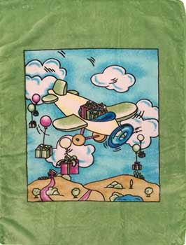 Blanket Baby 50x60365 Airplane Green