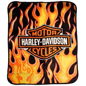 Blanket 60x80 Entertainment Harley Davidson  Fresh Logo