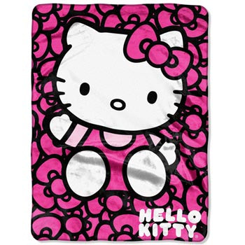 Blanket 60x80 Cartoon  Hello Kitty - Lots of Bows