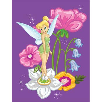 Blanket 60x80 Cartoon  Princess Tinkerbell Fairies