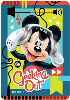 Blanket 60x80 Cartoon  Mickey Mouse - Geeking Out