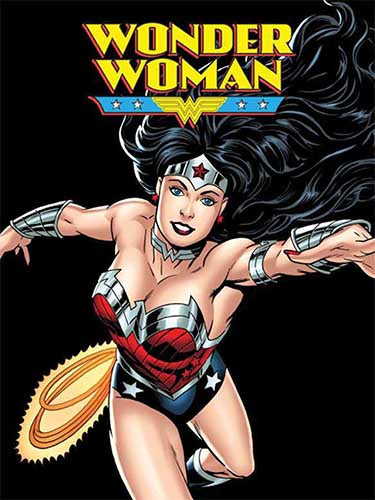 Blanket 60x80 Cartoon  Wonder Woman - Flight