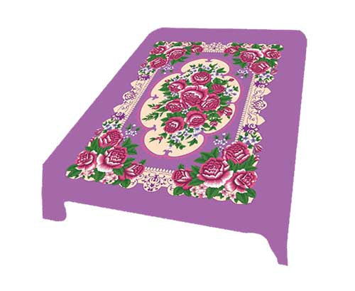 Blanket King  TOR - Floral Ct- Floral Purple G008