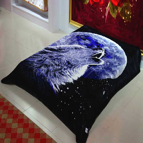 Blanket King 2PLY: NOOR: A132 Wolf