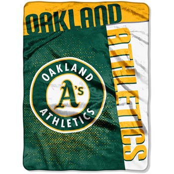 Blanket 60x80 MLB Oakland Athletics (A's)- Strike