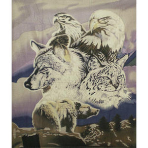Fleece 50x60 Throw Blanket 5 Animal 601