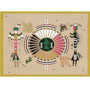 Fleece 50x60 Throw Blanket Native Writing Kachina1 PF315