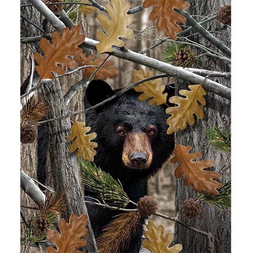 Blanket Queen Huntsman Signature Select-  Camo Bear