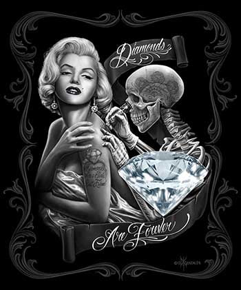 Blanket Queen DGA- Marilyn Monroe - Diamonds Are Forever