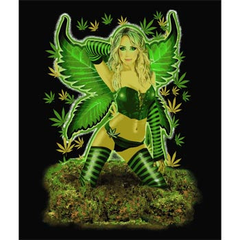 Blanket Queen Nu Trendz Signature- Fairy Ct- Weed Fairy leaf