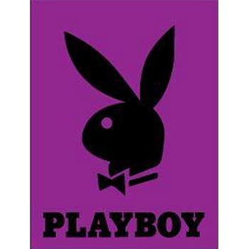 Blanket Queen- Playboy Logo - Purple/Black