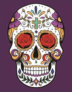 Blanket Queen - Skull Ct - Signature Select Purple Sugar Skull