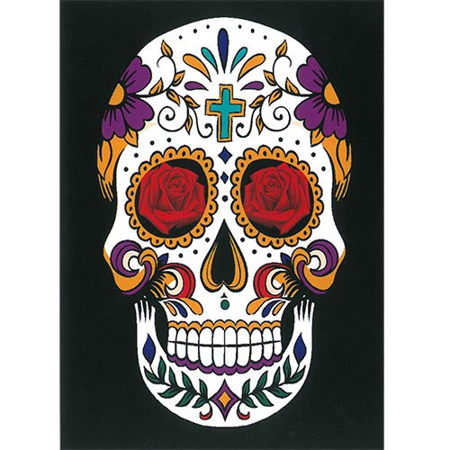 Blanket Queen - Skull Ct - Signature Select White Sugar Skull