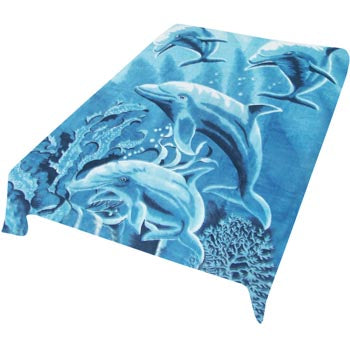 Blanket Queen TOR- Dolphin Ct- 4 Dolphins 576