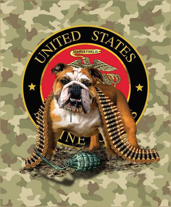 Blanket Queen Signature SE Select- Marines TNT Bulldog Camouflage