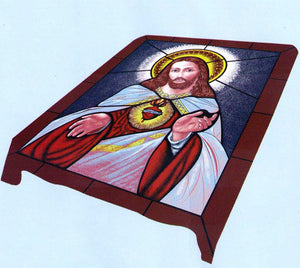 Blanket Queen DRA/TOR- Hispanic Ct- Jesus 874 Sacred Heart