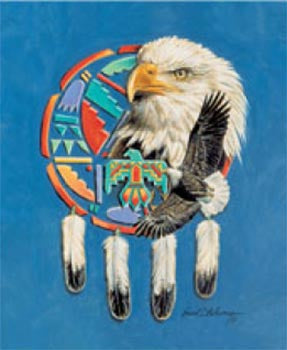 Blanket Queen Signature- Indian Ct- Eagle Shield