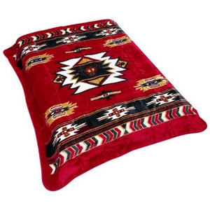 Blanket Queen MIL- Indian Ct- Southwest Red 747