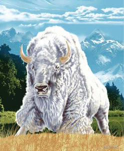 Blanket Queen Signature- Indian Ct- White Buffalo