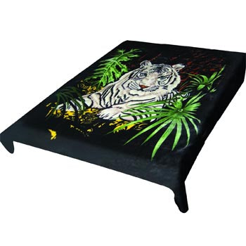 Blanket King - TOR- Tiger Ct- White Tiger w- Black Background 473