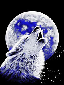Blanket Queen TOR- Wolf Ct- Howling Wolf w-Moon G538 /872