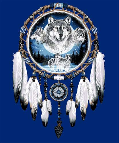Blanket Queen Signature Select-  Dreamcatcher Wolf Pack