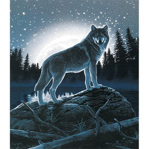 Blanket Queen Signature- Wolf Ct- Select Mystic Wolf