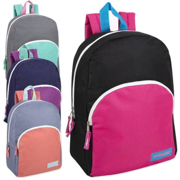 Wholesale 15 Inch Promo Backpack 4 Color Girls Assortment