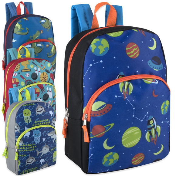 Wholesale 15 Inch Character Backpacks - Boys