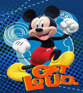 Blanket 60x80 Cartoon Mickey Mouse - Get Loud