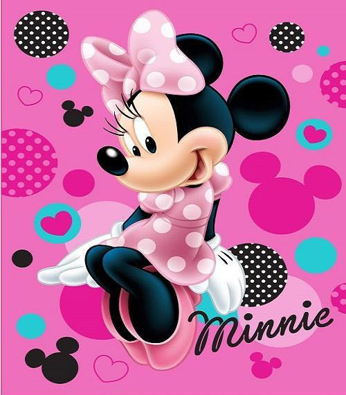 Blanket 60x80 Cartoon Minnie Mouse - Sitting Pretty